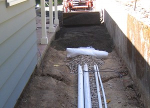 Laying irrigation pipes