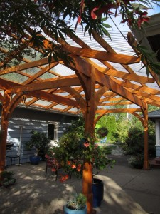 outdoor room patio roof craftsman garden wood patio