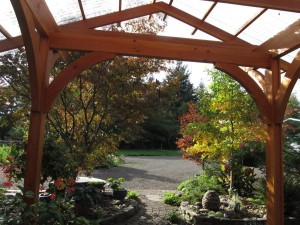 outdoor room patio roof craftsman garden wood