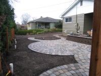 circle patio construction