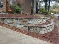 stone wall terrace