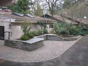 stone wall bench pavers
