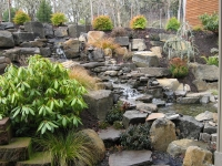 creek waterfall stone natural water feature