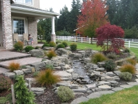 creek fountain stone natural water feature