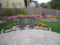 patio pavers stone wall