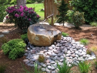 water feature fountain spout bowl boulder