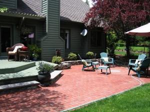 patio brick deck stone
