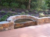 sater feature fountain formal stone pool cascade