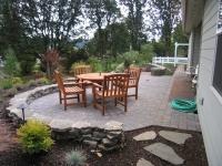 patio paver stone dining