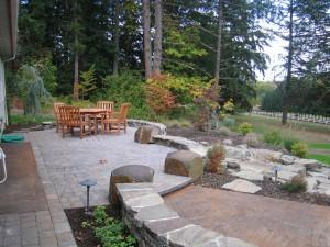 patio pavers stone seating