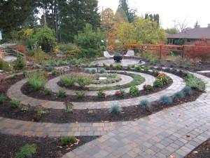 labyrinth patio garden