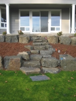 stone stairs boulders