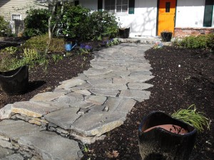 flagstone stone path steps stairs