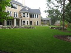 formal lawn boulders