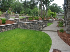 lawn with stone pathway