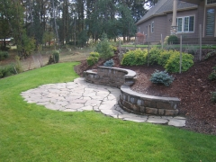lawn next to patio